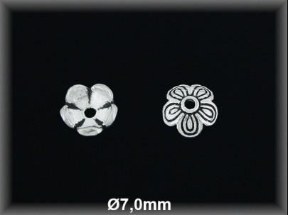Fornitura Casquilla Plata 925 oxido flor ref FZ104 Movegranada