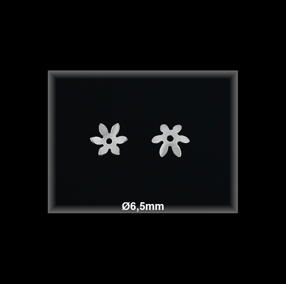 Fornitura Casquilla Plata 925 lisa flor ref FZL005 Movegranada