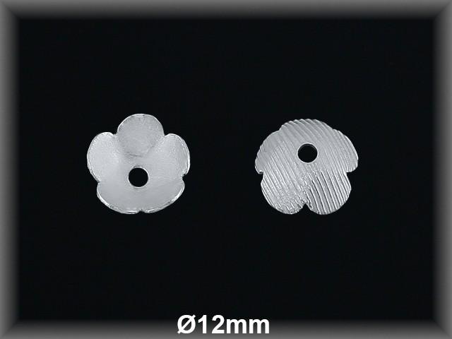 Fornitura Casquilla Plata 925 lisa flor ref FZL010 Movegranada