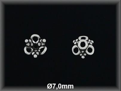 Fornitura Casquilla Plata 925 oxido flor ref FZL016 Movegranada