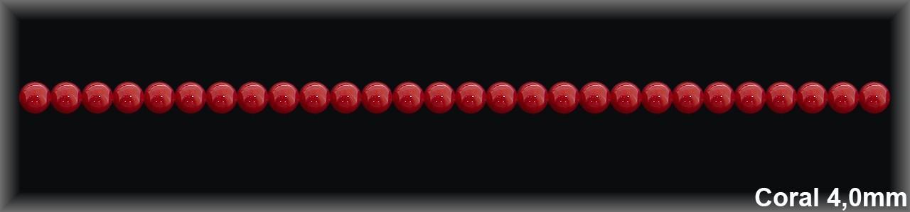 Bolas coral R. 4 MM -Hilo 95 Piezas-