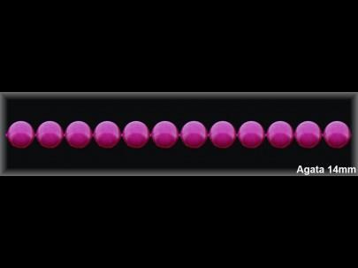 Bola ágata púrpura 14 mm.-1 hilo 29 pzas.-