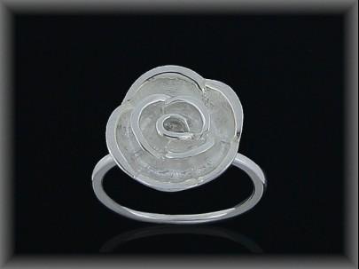 Anillo plata lisa flor