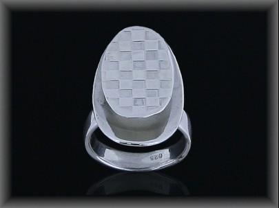 Anillo plata oval s