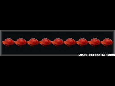 Hilo Cristal Murano rojo 15x20 mm ref H486R Movegranada