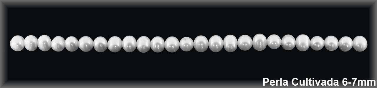 Perla  cultivada     redonda 6-6.5 MM.(cal.1ª.ex.) -1 hilo 68 pzas.-