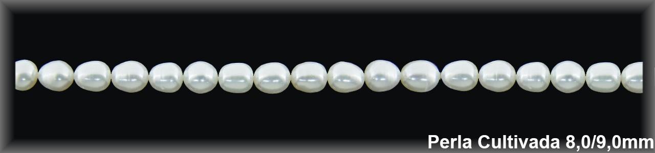 Perla  cultivada     7-8 x 9-10 mm(cal.ex.) -1 hilo 42 pzas.-