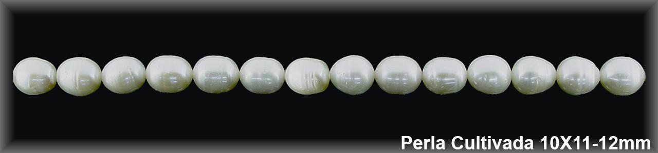 Perla  cultivada     10x11-12 mm -1 hilo 30 pzas.-