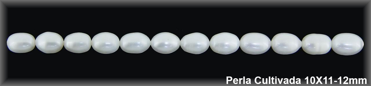 Perla  cultivada     10x11-12 mm -1 hilo 30 pzas.-calid.extra