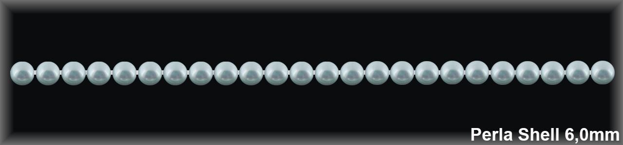 Perla shell 6 mm.-Blanca- 1 hilo 68 pzas.-(R.B.)