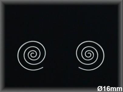 Pendientes Plata 925 lisa espiral 16 mm ref L8015D16 Movegranada