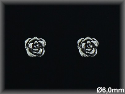 Pendientes Plata 925 oxido flor presion ref M8136 Movegranada