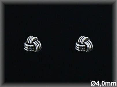 Pendientes plata  oxido presion 1 2 nudo hilos
