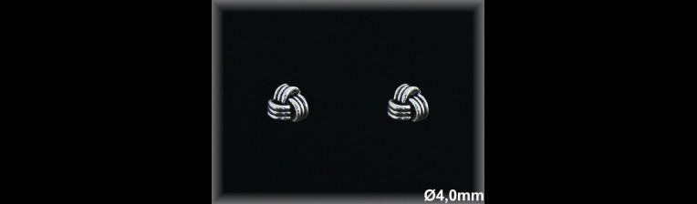 Pendientes Plata 925 oxido nudo hilos ref M8141 Movegranada