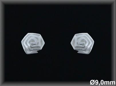 Pendientes plata lisa flor 9mm.