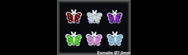 Pendientes Plata 925 mariposa esmalte ref M8172 Movegranada