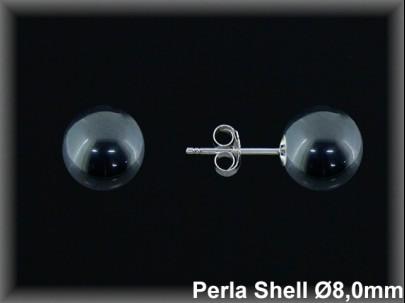 Pendientes Plata 925 rodio bola perla ref M8218G Movegranada