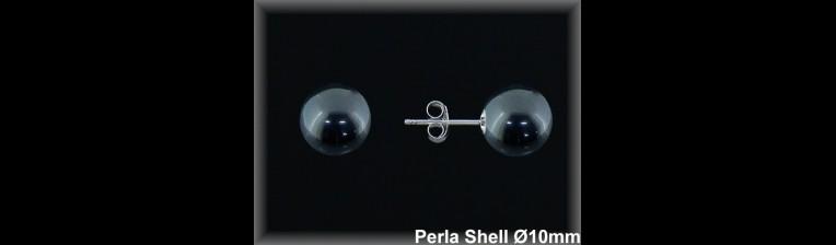 Pendientes Plata 925 rodio perla shell ref M8219G Movegranada