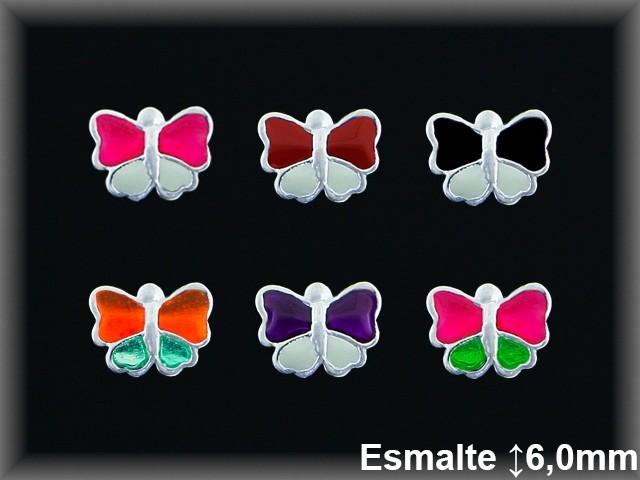 Pendientes Plata 925 mariposa esmalte ref ME015 Movegranada