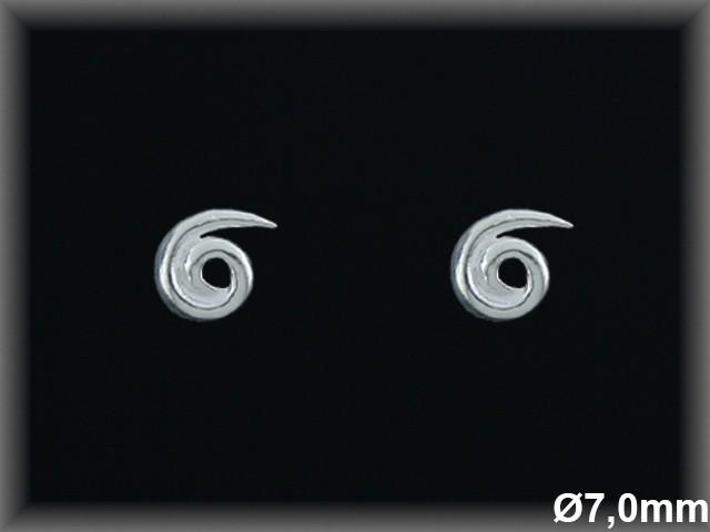 Pendientes Plata 925 espiral presion ref ML029 Movegranada