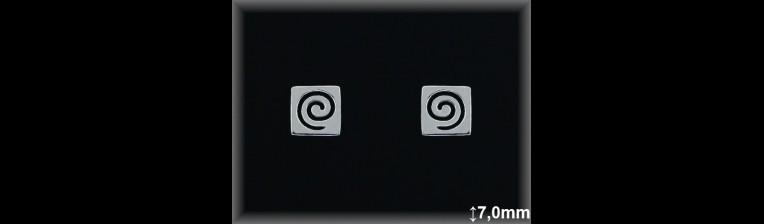 Pendientes Plata 925 espiral cuadrado ref ML042 Movegranada