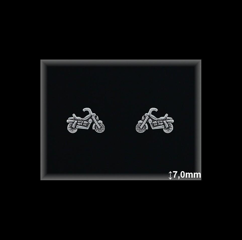 Pendientes Plata 925 moto presion ref ML043 Movegranada