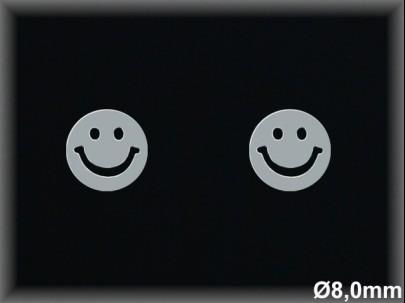 Pendientes plata   rodio carita sonriente8mm-presion-.