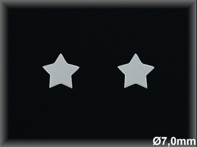 Pendientes Plata 925 lisa estrella 7 mm ref ML072 Movegranada