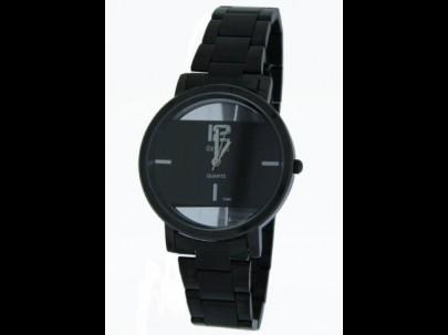 Reloj acero  negro esfera negra   38mm T1/1