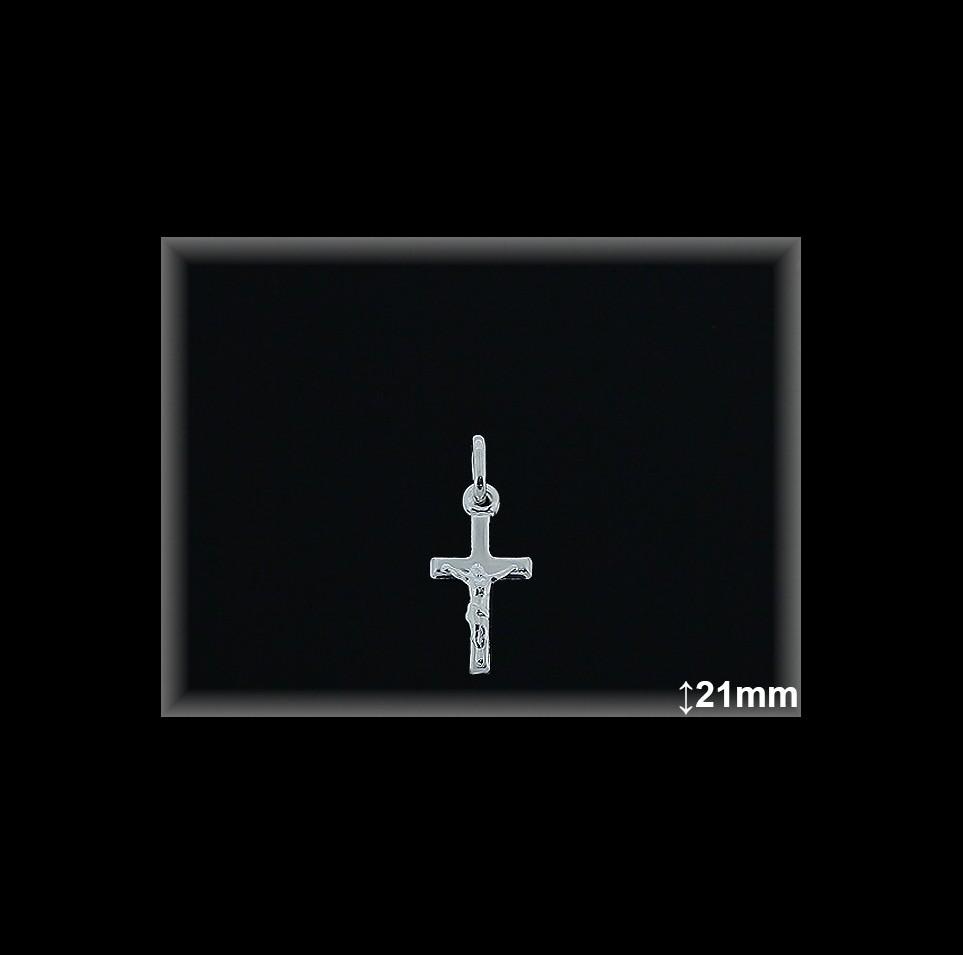 Cruz Plata 925 lisa con Cristo 11x21 mm ref 4014 Movegranada