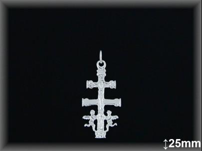 Cruz Caravaca Plata 925 largo 25 mm ref 4601 Movegranada