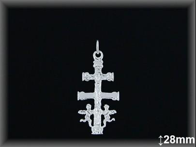 Cruz Caravaca plata  28X12.0 mm