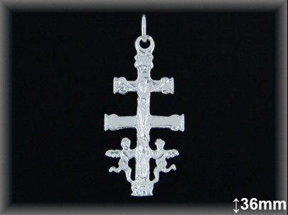Cruz Caravaca Plata 925 36 mm ref 4603 Movegranada