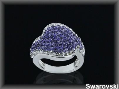 Anillo plata swarovski violeta