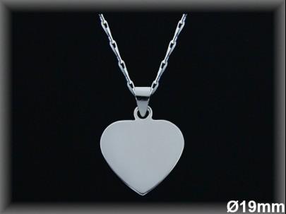 Colgantes plata corazón liso 19 MM cad7386b