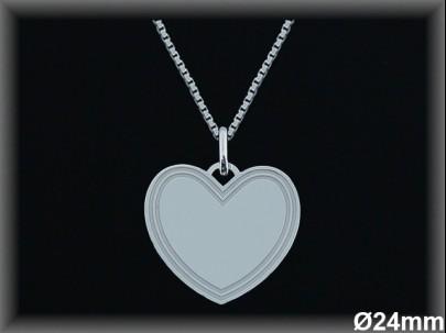 Colgantes plata lisa corazón -24 mm.-cad7300b