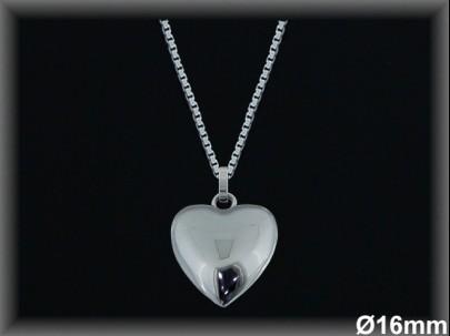 """Colgantes plata rodio  """"corazón"""" 16mm.-cad.7300br-"""