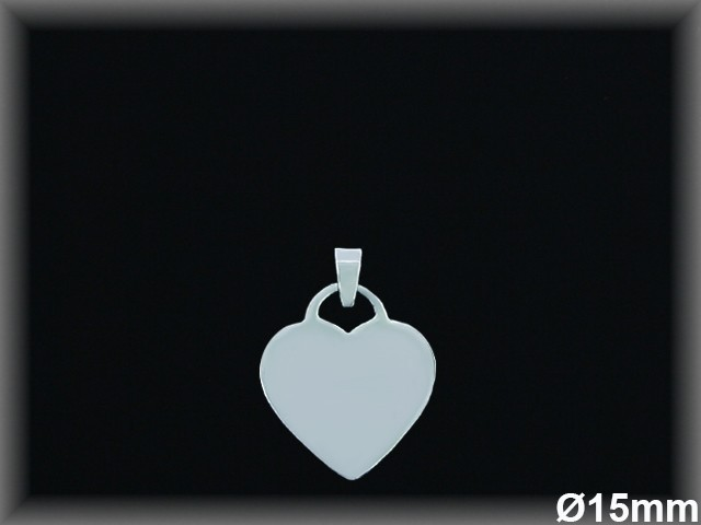 Colgantes Plata 925 corazon liso 15 mm ref 33L035 Movegranada